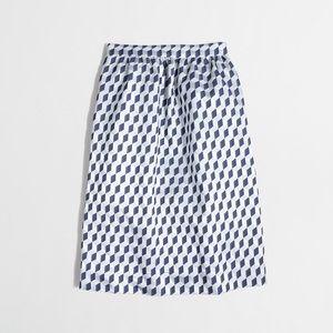 NWOT Jcrew Geometric jacquard flounce skirt